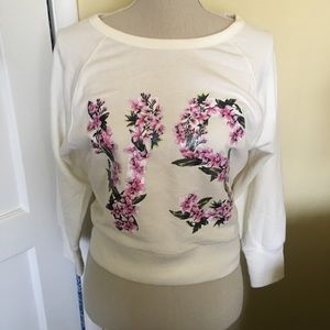 Victoria Secret Floral Crop Sweatshirt